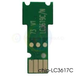 Чип для LC3617C, LC3619XLC Cyan для картриджей Brother MFC-J3930DW, MFC-J3530DW, одноразовый, совместимый, для голубых чернильниц