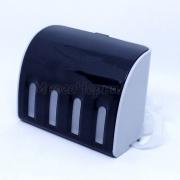 Красивые емкости-доноры для СНПЧ на 4 цвета, черный корпус, 4 x 70 мл