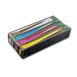 Комплект совместимых картриджей для HP PageWide 377dw, 352dw, Pro 477dw, 452dw, (913A) неоригинальные, 4 цвета
