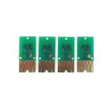 Чипы для перезаправляемых картриджей (ПЗК/ДЗК) к Epson Workforce WF-7710DWF, WF-7210DTW, WF-7720DTWF, WF-7110DTW, WF-7610DWF, WF-7620DTWF, WF-7715DWF,  (картриджи T2711-T2714, T2701-T2704, T2791), автоматически обнуляемые, длинные платы, комплект 4 цвета
