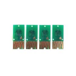 Чипы для перезаправляемых картриджей (ПЗК/ДЗК) к Epson Workforce WF-3620DWF, WF-3640DTWF, WF-7110DTW, WF-7610DWF, WF-7620DTWF (картриджи T2711-T2714, T2701-T2704, T2791), автоматически обнуляемые, большие платы, комплект 4 цвета