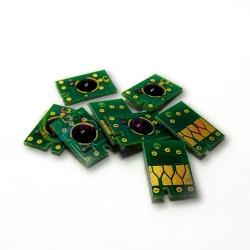 Чипы для перезаправляемых картриджей (ПЗК/ДЗК) плоттеров Epson Stylus Pro 7800, 9800, комплект 8 цветов (с матовым чёрным)