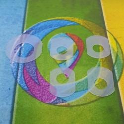 Силиконовые прокладки-уплотнители для ПЗК и СНПЧ к HP и Canon, комплект 5 штук