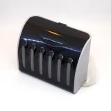Красивые емкости-доноры для СНПЧ на 6 цветов, чёрный корпус, 6 x 70 мл