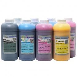 Чернила для Epson Stylus Pro 4880, 9880, 9800, 4800, 7800, 7880, Photo R2400, R2880, DCTec водорастворимые С МАТОВЫМ ЧЁРНЫМ, комплект 8 цветов по 1 литру