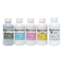Чернила для Epson SureColor SC-F2000, SC-F2100 (5-цветные модели), текстильные, для прямой печати на ткани, комплект 5 x 200 мл