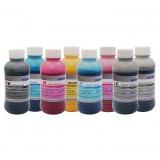 Чернила для Epson Stylus Pro 4880, 9880, 9800, 4800, 7800, 7880, Photo R2400, R2880, DCTec пигментные С ФОТО ЧЁРНЫМ, комплект 8 цветов по 200 мл