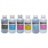 Комплект текстильных чернил для прямой печати на ткани для Epson, Mutoh, Mimaki, Roland, (CMYKLMLC, DCTec) 6 цветов x 200 мл