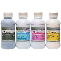 Комплект текстильных чернил для прямой печати на ткани для Epson, Mutoh, Mimaki, Roland, (CMYK, DCTec) 4 цвета x 200 мл