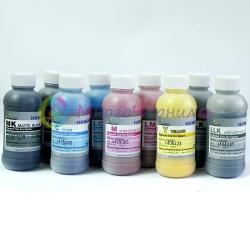 Чернила для Epson Stylus Pro 4880, 9880, 9800, 4800, 7800, 7880, Photo R2400, R2880, DCTec пигментные С МАТОВЫМ ЧЁРНЫМ, комплект 8 цветов по 200 мл