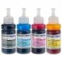 Чернила светостойкие для Epson L1110, L3100, L3101, L3110, L3111, L3150, L3151, L3156, L3160, L5190, ET-2710, ET-2711, ET-2720, ET-4700 (Фабрика Печати / Ecotank, аналог оригинальных чернил 103 / 104), водные DCTec, 4 цвета по 70 мл