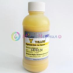 Чернила жёлтые DCTec для Epson Stylus Pro 4880, 7890, 3880, 9700, 7880, 7700, 9890, 4900, 3800, 7900, 9900, 9880, 11880, 4450, R3000, R2880, SureColor SC-T3200, T3000, T5200, T5000, T7200, T7000, P6000, P8000, P7000, P9000, P5000 (Yellow) пигмент, 200 мл