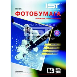 Фотобумага IST глянцевая двусторонняя, A4 (21x29.7), 160 г/м2, 50 листов