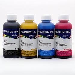 Чернила для Epson L210, L110, L100, L120, L355, L200, L300, L350, L456, L550, L555, L1300, L310, L3050, L3060, L3070, ET-2500, R240, R245, R250, RX420, R430, RX520 (T6641-T6644), InkTec E0010 водные, комплект 4х100 мл