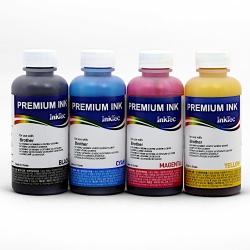 Комплект водных чернил InkTec B1100 для Brother DCP-130C, DCP-135C, DCP-150C, DCP-330C, DCP-350C, DCP-540CN, DCP-750CW (LC-37/LC37), комплект 4 x 100 мл