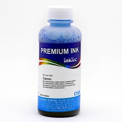 Чернила голубые Cyan для Canon MAXIFY MB2040, MB2140, MB2340, MB2740, MB5040, MB5140, MB5340, MB5440, iB4040, iB4140 (картриджи PGI-1400, PGI-2400) InkTec, водные, 100 мл