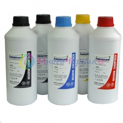 Ультрахромные чернила для Epson SureColor SC-T3000, T5000, T7000, T3200, T5200, T7200, Ultrachrome, пигментные, комплект 5 цветов по 1 литру, Moorim