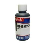 Универсальные чёрные (black) чернила для HP, Ninestar (водные / водорастворимые), 100 мл