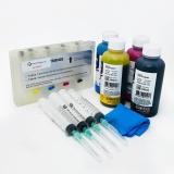 Набор перезаправляемых картриджей (ПЗК) с чернилами для Epson PictureMate PM270, PM310, PM250, PM210, PM215, PM235, PM245 (T5852), с авто-чипами, 4 цвета