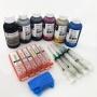 Набор перезаправляемых картриджей с чернилами для Canon PIXMA MG7140, MG6340, iP8740, MG7540 (ПЗК аналог PGI-450, CLI-451 с авто чипами), c InkTec + DCTec 6 по 100 мл