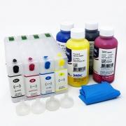 Набор перезаправляемых картриджей (ПЗК) с чернилами для Epson WorkForce Pro WF-5110DW, WF-5620DWF, WF-4630DWF, WF-4640DTWF, WF-5190DW, WF-5690DWF (картриджи T7901-T7904, T7911-T7914), 4 цвета с авто-чипами