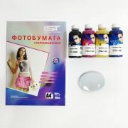 Набор для сублимации (Магнит для сублимации овал 90 x 65 мм 10 штук + сублимационные чернила 4 цветов по 100 мл InkTec + бумага для сублимации)