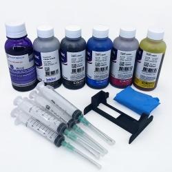 Заправка для Canon PIXMA TS8140, TS8240, TS9140 (заправочный набор для PGI-480, CLI-481), с 6 x 100 мл чернил InkTec/DCTec