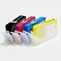 Перезаправляемые нано-картриджи Bursten Nano-1 для HP DeskJet 3070a, 3070, HP Photosmart 5510, B110, B110b (CN245C), 6510, B010b, B210b, 5515, B109b, B109c, B209a, 5520, B110a, C410 (под HP 178/XL, 4 картриджей), с чипами