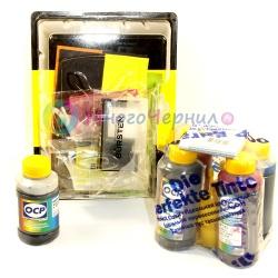 Набор для HP DeskJet 3070a, 3070, HP Photosmart 5510, B110, B110B, 6510, B010B, B210B, B109, 5515, B109C, 5520, B209A, C410, CN255C, CN245C, B110A (HP178 4) перезаправляемые нано-картриджи (ПЗК) с комплектом чернил OCP по 100 мл + черные чернила в подарок