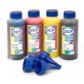 Чернила для Brother DCP-130C, DCP-135C, DCP-150C, DCP-330C, DCP-350C, DCP-540CN, DCP-750CW (LC37, LC-38), OCP пигмент + водные, комплект 4 х 100 мл