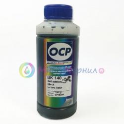 Чернила OCP BK 140 для картриджей Epson Claria T0821 / T0801, чёрные Black, водорастворимые, 100 мл
