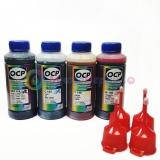 Чернила OCP для Epson Expression Home XP-313, XP-103, XP-303, XP-413, XP-207, XP-203, XP-406, XP-225, XP-306, XP-33, XP-403, XP-400, XP-315, XP-412, XP-423, XP-323, L655, пигментные + водные, комплект 4 х 100гр