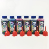 Комплект чернил OCP с повышенной светостойкостью для Epson Stylus Photo 1500W, P50, T50, PX650, PX660, PX730WD, 1410, R270, R290, RX615, TX650, RX610, R390, RX590, R295, RX690, водные, 6 x 100 мл