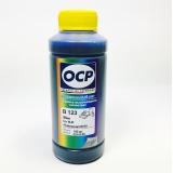 Чернила для HP Photosmart 8700, 8750, 8753 водорастворимые OCP (B 123) Blue 100 мл для картриджа (под HP 101)