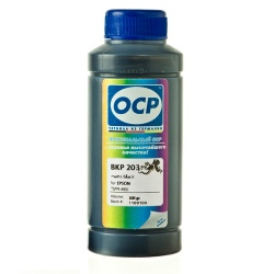 Чернила OCP для Epson Stylus PRO 3880, 4880, 7890, 9890, 11880, 3800, 7880, 9880, Stylus Photo R2400, BKP 203 Matte Black, чёрные матовые, 100 мл