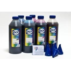 Чернила OCP для Epson L800, L1800, L810, L815, L850 (Фабрика печати, T6731-T6736), водорастворимые, комплект 6 x 1 литру
