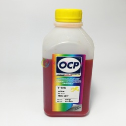 Чернила OCP для HP Designjet 500 (plus), 510, 111, 110 (plus/nr), 800, 500ps, 430, 70, 100, 120, Deskjet 1280, 5550, 1220, 6122, PSC 750, Photosmart 7150 (под картриджи 10, 13, 15, 20, 29, 40, 45, 82), OCP Y 120 водные, жёлтые Yellow, 500 мл