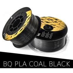 PLA пластик чёрный (Coal Black) для 3D-принтеров на катушке (фирменный BQ, диаметр нити 1,75 мм, 1 кг)
