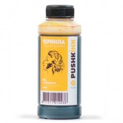 Чернила жёлтые для Epson Фабрика Печати L800, L210, L110, L805, L355, L222, L366, L120, L132, L100, L200, L312, L1800, L300, L1300, L350, L850, L456, L362, L810, L550, L555, L365 (yellow), водные, Pushkink, 100 мл