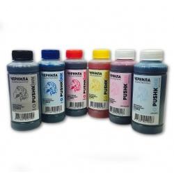 Чернила для Epson Stylus Photo R200, R210, R220, R230, R310, R300, R300M, R320, R340, R350, RX500, RX510, RX600, RX620, RX630, RX640, RX650, водные, Pushkink, 6 х 100 мл