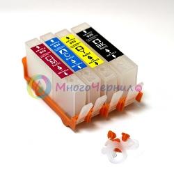 Перезаправляемые картриджи (ПЗК) для OfficeJet 7000, 6000, 7500a, 6500, 6500a (HP920) 4 шт, c чипами