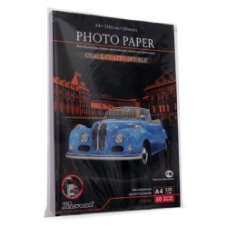 Бумага для визиток глянцевая двухсторонняя плотная 330 г/м2, А4 (21х29.7), 50 листов (revcol)