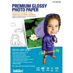 Фотобумага высокоглянцевая односторонняя (суперглянцевая), А3 (29,7x42), InkTec ITP-20EPA3B, 270 г/м2, 20 листов