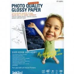Фотобумага высокоглянцевая односторонняя (суперглянцевая), А6 (10,5х14,8), InkTec ITP-30SPUA6, 260 г/м2, 30 листов