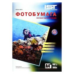 Фотобумага IST матовая односторонняя, A4 (21x29,7), 108 г/м2, 100 листов