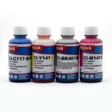 Комплект чернил для Canon Pixma MG2440, MG2540S, MG3040, iP2840, MG2540, TS3140, TS3340, TS3440, TS5340, TS7440, TR4540, MG2940, MG2545S, MX494, TS304, TS204 (картриджи PG-445, CL-446, PG-460, CL-461), Ninestar (пигментные + водные), 4 х 100 мл