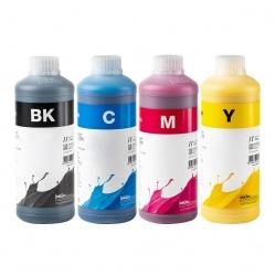 Чернила для Epson L4160, L4150, L4167, L655, L1455, L605, L6160, L6170, L6190, ET-2700, ET-2750, ET-3600, ET-3700, ET-3750, ET-4550, ET-4750, ET-16500 (Фабрика Печати Ecotank), InkTec пигментные E0013 + водорастворимые E0017, 4 цвета по 1 литру