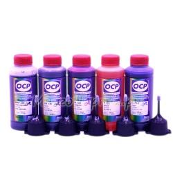 Чернила OCP для Canon PIXMA iP7240, MX924, iX6840, MG5640, MG5540, MG5440, MG6640, MG6440 (совм. PGI-450, CLI-451), пигмент + водные, комплект 5 x 100 мл