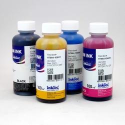 Чернила для HP Deskjet Ink Advantage 5645, 5575, OfficeJet 252, 202 (для заправки картриджей 651), InkTec пигмент + водные, 4 x 100 мл