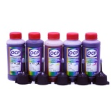 Чернила OCP для заправки Canon Pixma MG6840, MG5740, TS5040, TS6040 (картриджи PGI-470/PGI-270, CLI-471/CLI-271), пигмент + водные, комплект 5 x 100 мл